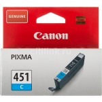 Картридж струйный Canon CLI-451C Pixma iP7240/MG6340/MG5440, cyan 7ml