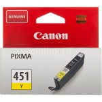 Картридж струйный Canon CLI-451Y Pixma iP7240/MG6340/MG5440, yellow 7ml
